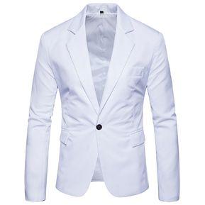 014d45a2b Hombre Traje Suits chaqueta ligera Fashion-Cool-Blanco