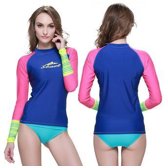 ac2b11ee6f995 Compra Camisa de la Natación Trajes de Ba o de Mujer Manga Larga ...