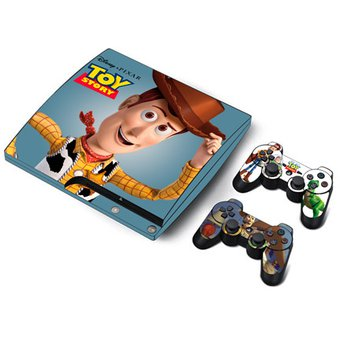 Skin Ps3 Slim Toy Story (0056) Consola Completa + 2 Skins Controles