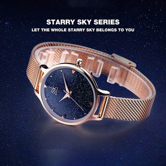 aeee31cb067b Compra SK K0063 reloj de cuarzo impermeable casual para mujer azul ...