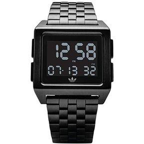 Reloj Digital Marca Adidas Modelo  Z0100100 Color Negro Para Unisex 861ad2de0f01