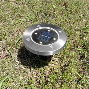 152774f45a6 Suelo Solar 4 LED Luz Lámpara Solar Resistente Al Agua Para La Casa Y  Jardín Patio