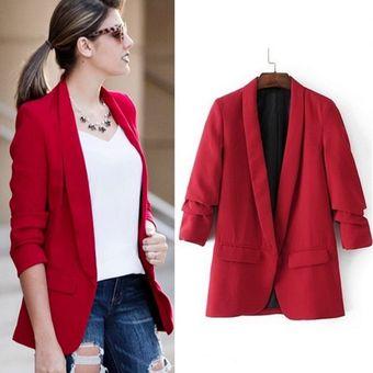 108320a47265 Chaqueta Blazer Para Mujer Fashion-Cool-Rojo
