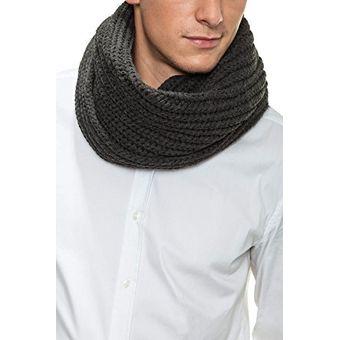 bajo precio eb18d 319aa Cuello Bufanda Tubular Tejidas Hombre Mujer Fashion Vinotinto