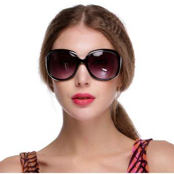 27204da24d Gafas De Sol Lentes Grandes Gafas De Conducción Marco Tortuga Vintage  Oversize Para Mujer - Negro