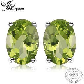 9a02fe0642f6 Aretes Jewelrypalace Genuino Peridoto Piedra Natal 925 Plata Esterlina