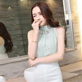 2c0ca11d16 Top Blusa Camisa Manga Larga Cuello Colgante Redondo Mujeres-Verde Claro
