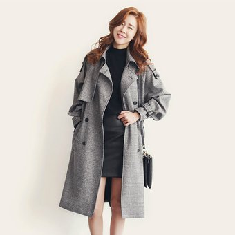 Mujer Cinturón Online Thinker Compra Para Abrigo Largo Gris E Con wtnzgXq