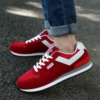 38f32f859624c Zapatillas deportivas planas de ocio baja para hombres zapatos para correr