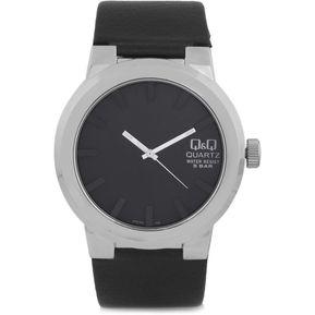 Reloj Hombre Marca Q Q Modelo Q740J302Y Pulso En Cuero Original - Negro fe013d22300d