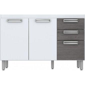Compra Mueble Cocina Briz Modulo Bajo 03 Puertas 02 Cajones Blanco ...