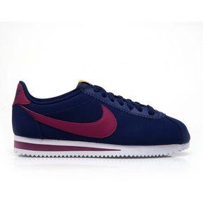 a91826da78 Tenis Mujer Nike Classic Cortez Leather-Azul con Rojo