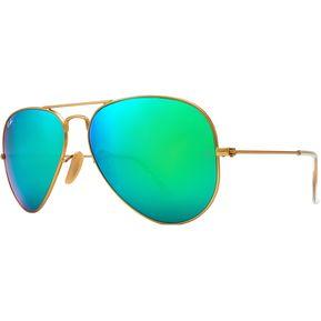 f3121709a7 Lentes Ray-Ban Aviador Dorado; Verde Espejo