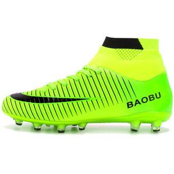 Compra Zapatillas Hombre De Fútbol Con Clavo Largo Y Colores - Verde ... dc019304983fa
