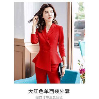 2020 Mujer Formal Elegante Oficina Ropa De Trabajo Uniforme Ol Senoras Pantalones Chaquetas Chaqueta Con Tops Trajes De Pantalon 2 Piezas Conjuntos De Ropa Only Rojo Blazer Linio Peru Un055fa07cm2mlpe