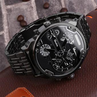 bcf1c165fa6f Reloj EY Relojes Hombre Oulm Circular De Cuarzo Doble Movimiento De Reloj  Grande 3548 Caparazón Negro