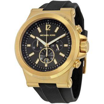 Negro Cronógrafo Dylan Reloj Mk8445 Dorado Kors Michael Y Hombre WHbIE29eDY