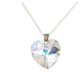 7f359f19dc72 Collar Mujer Corazón Cristal Swarovski - Cristal Aurora Boreal