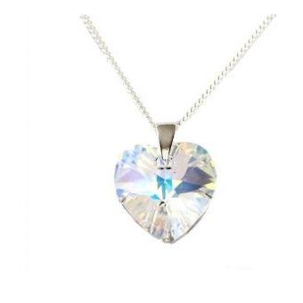 b9c2fdd467fe Compra Collar Mujer Corazón Cristal Swarovski - Cristal Aurora ...