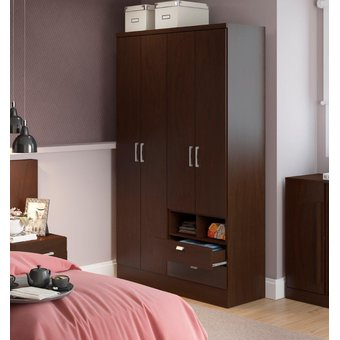 Ropero Closet Bertolini 597 4 Puertas 2 Cajones