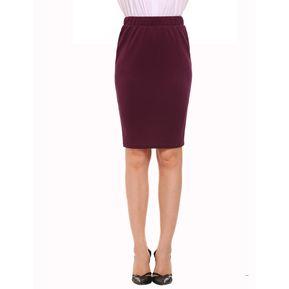 f1f11315cb Mujeres De Alta Cintura Elástica Mini Lápiz Falda Paquete Hip OL -Rojo