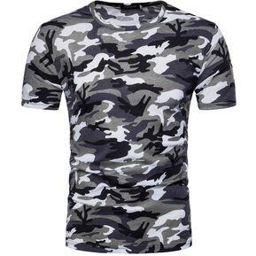 9bca733948 Camiseta De Camuflaje Camisa Para Tops Hombre Hombre De Primavera Y Verano