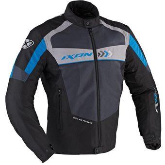 33764cbb434 Agotado Chaqueta para moto con Protección IXON Alloy - Negro Azul Gris