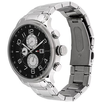 Agotado Reloj Tommy Hilfiger 1790860 Tyler Acero Inoxidable - Plateado Negro e738ed93ecd5