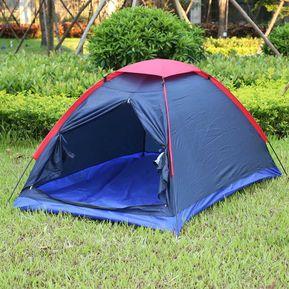 6e287623521 Dos Personas Kit De Camping Al Aire Libre Carpa Fibra De Vidrio Poste  Resistencia Al Agua