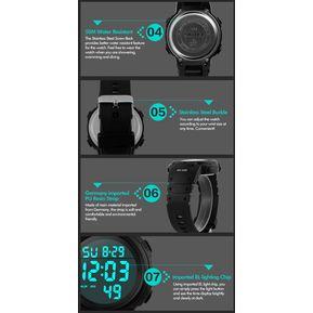 Reloj Tactico Skmei Simple Anti Shock Sumergible 50 Metros  negro C azul 814fa80ec56a4