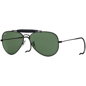 bee9a7a4a9 Lentes Ray-Ban Outdoorsman Negro; Verde