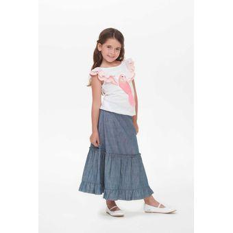2d7370de1 Compra Falda De Mezclilla Innermotion Jeans Para Niña 7112 - Azul ...