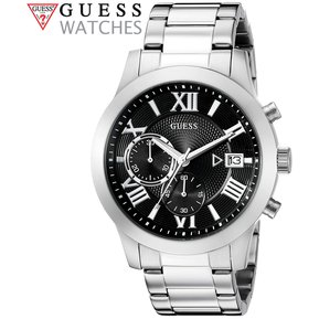 Reloj Guess U0668G3 Cronómetro Acero Inoxidable - Plateado Negro 9a13f91afa88
