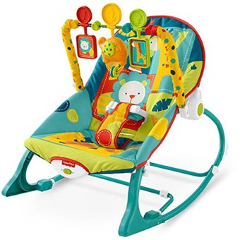 1b58f1d75 Silla Vibradora Mecedora Para Bebe Fisher Price Safari-Multicolor