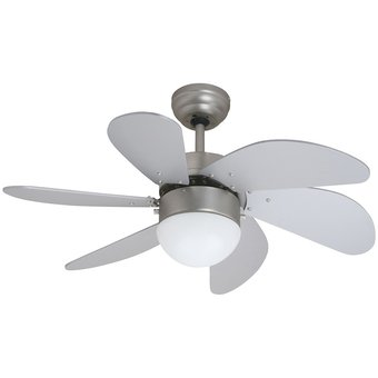 Compra ventilador de techo con l mpara 6 aspas n quel coolfan 45502 online linio m xico - Lampara de techo con ventilador ...