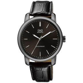 36b85a41463a Reloj Hombre Q Q Modelo Q868J502Y Pulso En Cuero Original - Negro