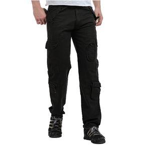 Pantalones Hombre Deportivo Militares Pantalon Cargo Bolsillos Múltiples  Algodon - Negro 5af39fcbd72