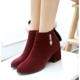 5a9c00d3 Agotado Nueva Llegada De Tacones Altos De La Plataforma De Las Mujeres Botas  Botines Zapatos De Moda