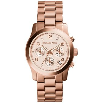 Dorado Runway Mujer Para Reloj Michael Kors Mk 5128 Rosa H29IYEDbeW