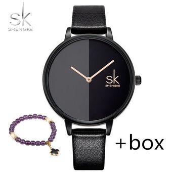 84fa3fef304e Compra Relojes Marca Lujo Mujeres De Cuero De Cuarzo Moda-Negro ...