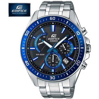 Plateado Casio Numero De Efr 1a2v Azul Serie Reloj 552d Con Edifice Cronometro 80wvNmnO