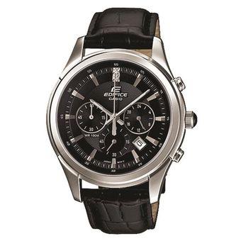 Reloj Negro Casio De 1a Edifice Efr517l Cuero Malla 0Oy8nmvNw