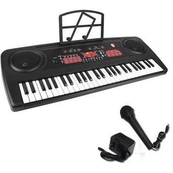 fd2498081e11c Teclado Musical Profesional 54 Teclas Microfono Respaldo Mitzu Musica