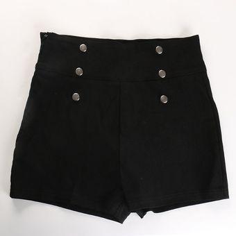 Verano Moda Sexy Mujeres Delgadas Pantalones Cortos De Cintura Alta Caliente Casual Solido Flaco Lado Cremallera Boton Tumblr Hipster Pantalones Cortos Black Linio Peru Un055fa0qviy7lpe
