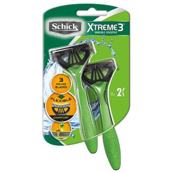 Compra Máquina de Afeitar Schick Xtreme3 Sensible x2 online  77627fe7cbf6