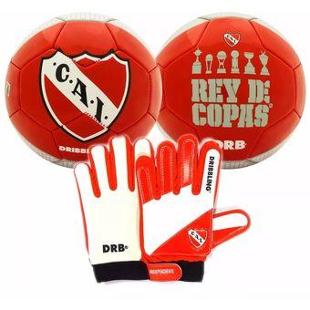 Compra Kit Futbol Independiente Pelota Guantes Arquero Drb Infantil ... 11386ce111739