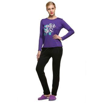62a3e5bd11 Compra Mujer Varios Espesa El Pijama Set-Púrpura online