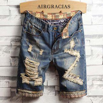 Pantalones Cortos Para Hombre Pantalones Vaqueros Rasgados De Marca Pantalones Cortos De Algodon Transpirables Bermudas De Moda Para Hombre 780blue Linio Peru Un055fa0pw9qjlpe