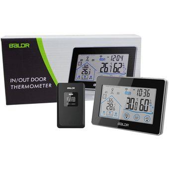 474f4beb9 Termómetro Higrómetro Baldr LCD Digital Toque Sensor Inalámbrico-Negro