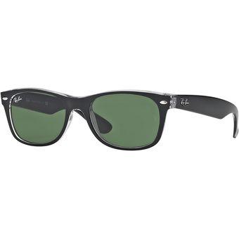 8d67b3f372 Agotado Gafas de Sol Ray Ban Sol New Wayfarer Negro en transparente 0RB2132  - 6052 - Hombre